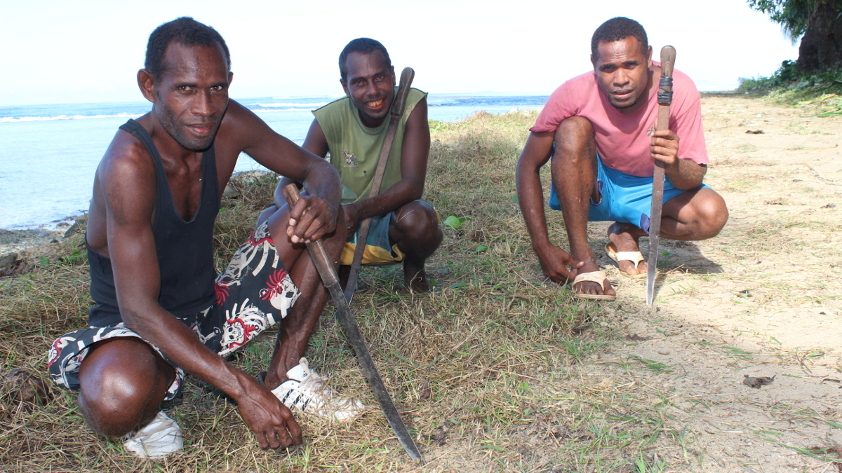 Road workers in Gizo, Solomon Islands for ADB