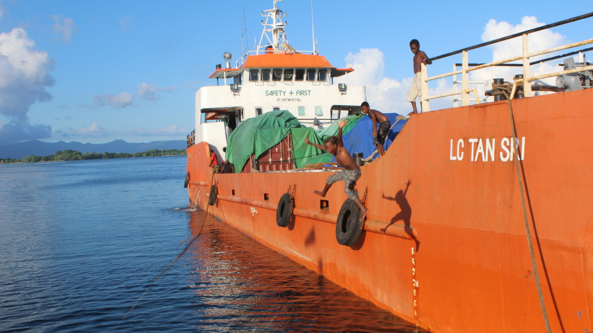 Port at Gizo, Solomon Islands, assignment for Asian Development Bank