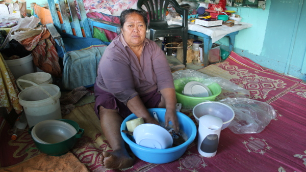 Grandmother in Atiu, Cook Islands for ADB