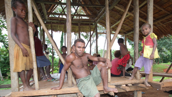 Family in Malaita, Solomon Islands for ADB