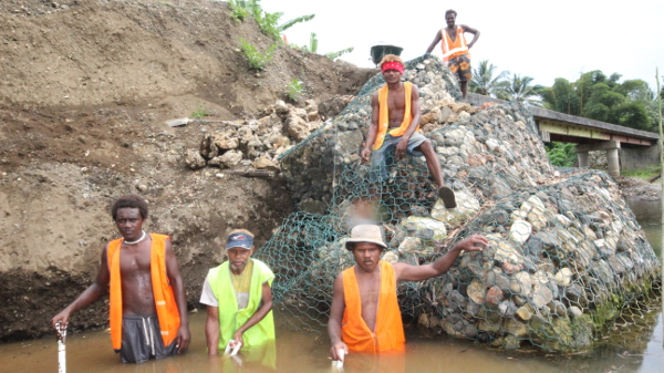 Bridge repair in Malaita, Solomon Island for ADB