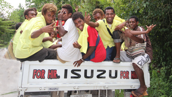 Student outing in Malaita, Solomon Island, assignment for Asian Development Bank