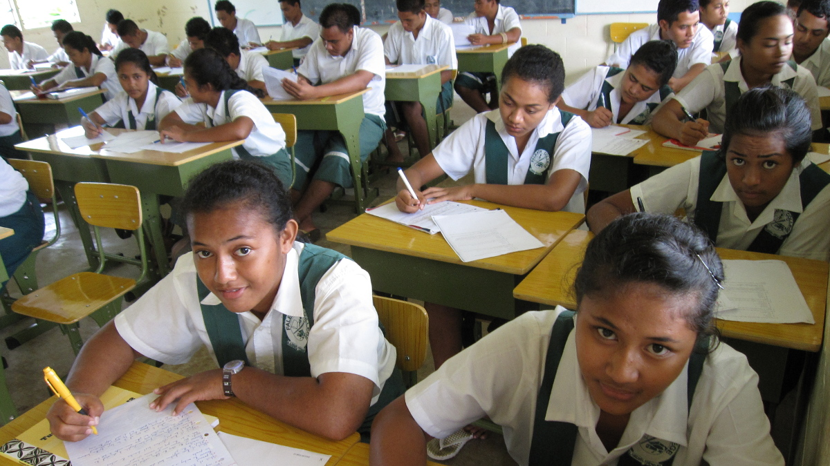Classroom in Apia, Samoa, assignment for Asian Development Bank